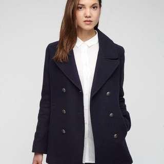 Navy military jacket / coat