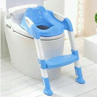 Baby Toddler Children Kids Potty Seat with Step Up Ladder Cover Toilet Folding