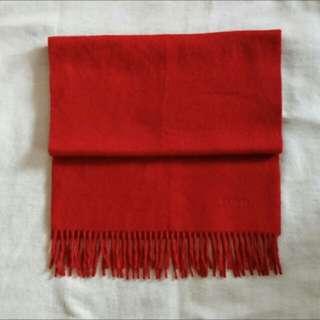 二手美品 Hermes cashmere圍巾🧣 紅色