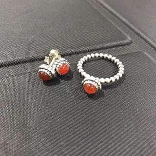 Pandora July birthstone set- ring size 52
