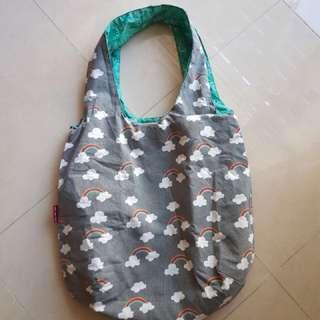 Reversible handmade tote bag