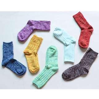 🚚 #現貨-Socks.超可愛混色中筒襪