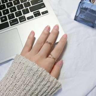 🚚 #現貨-Ring.極簡交叉戒指