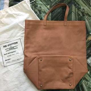 MMM x H&M leather tote bag