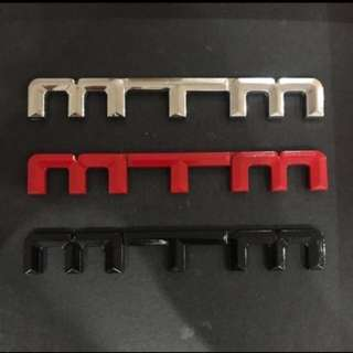 MTM Emblem For Audi, Volkswagen