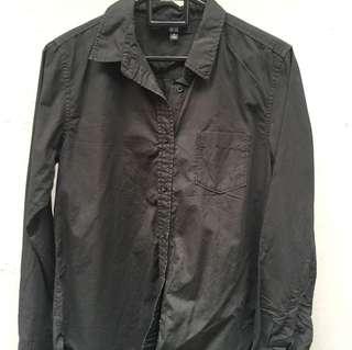 Black Shirt by Uniqlo