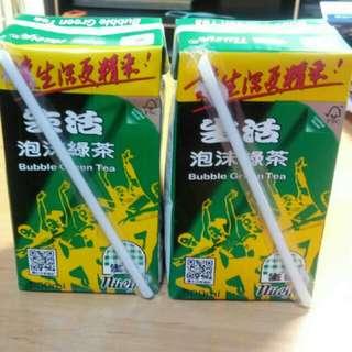 生活泡沫綠茶*2