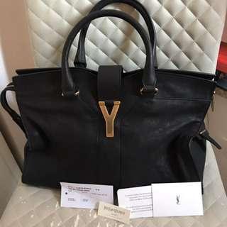 YSL Cabas黑色中size