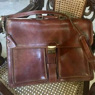 Genuine Leather Messenger Bag for Men (Made in Italy)