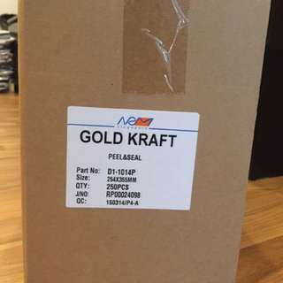 Gold Kraft Envelope
