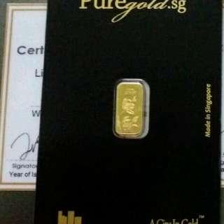 Gold Bar 1 gram Puregold Tulip
