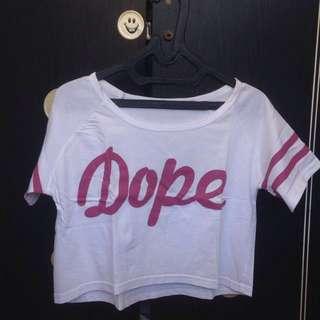 crop top / tee tumblr : Dope