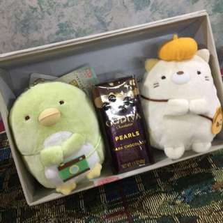 ❤️🎅🏻[Gift sets] Box Bouquet Gift Sets / with Godiva Chocolate Pearls or Lace artificial Roses / flowers / various characters available / New sumikko gurashi paw patrol / Valentines Christmas present / graduation plush /