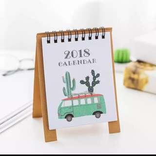 Cactus Mini 2018 Table Calendar