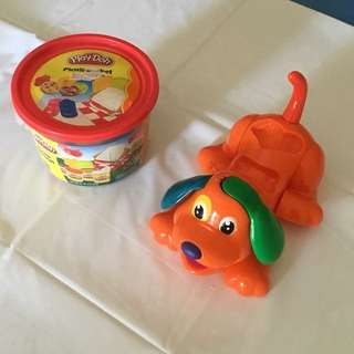 Play dough kit: picnic and play dough dog