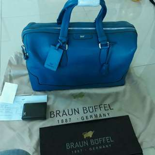 New - Authentic Braun Buffel Travelling Beg