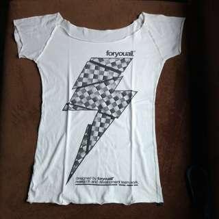 white sabrina tshirt