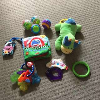 Reduced Baby Toys - 9 pieces