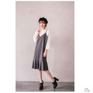 (全新)1+1兩件式背心洋裝
