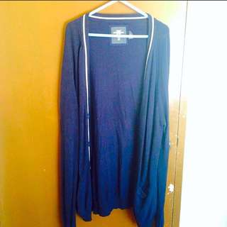 H&M Knee Length Knitted Cardigan (Blue)