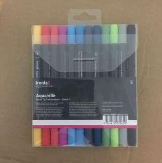 Ironlak Aquarelle Brush Tip Markers