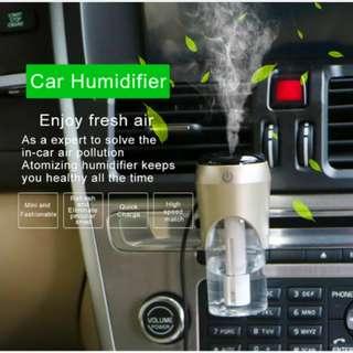 Portable Mini Car Humidifier Air Diffuser Purifier & Car Charger - 車載加濕器 香薰補水 充電器 - S2602
