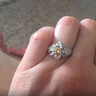 Fancy Yellow Diamonds Ring