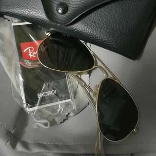 Authentic Rayban Aviator Sunglasses; Small; used twice