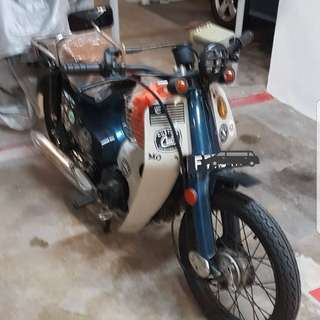 Open to trade,Honda c70 cub with cafe racer mods 4sale Cheap!