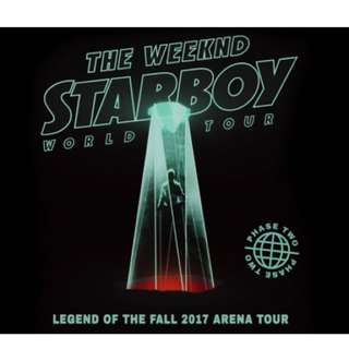 The Weeknd @ Rod Laver Arena (9/12/17) - 1 x A Reserve Ticket