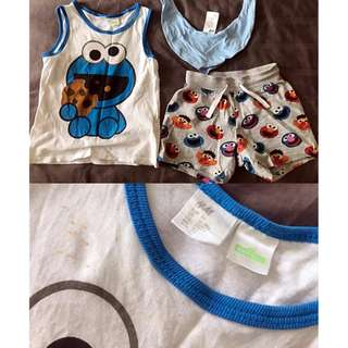 H&M Toddler Shirt & Pant Set (FOC H&M Kid Scarf)