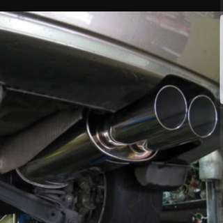 Fujitsubo exhaust for civic 1.8 and 2.0