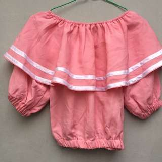 Blouse model sailor baby pink