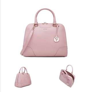 Furla Pink Dolly Leather Satchel Bag BNWOT