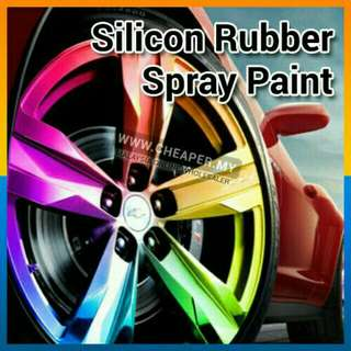 Car rim spray