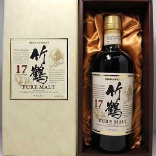 Taketsuru 竹鶴 17 Single Malt Japanese Whisky 700ml with box