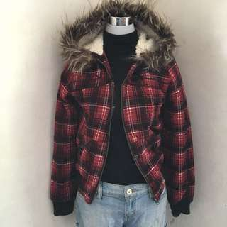 B Hip Winter Jacket With Fur