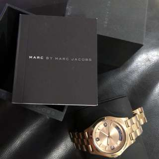 Authentic Marc Jacobs Gold Watch
