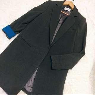 🚚 正韓 韓貨 韓製 高單價長版西裝外套大衣