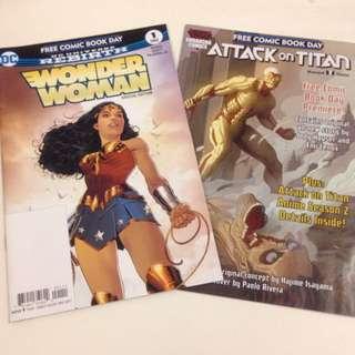 Free Comic Box Day Comics