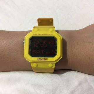 LEVIS Yellow Digial Watch
