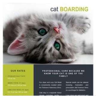 FREE CATS BOARDING