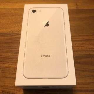 Apple iphone 8 256g 銀白色 100%新 配件全新