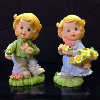 A pair of Clay Figurines