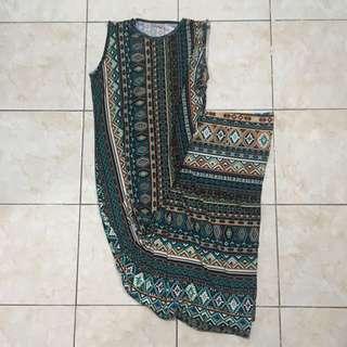 Abstract Design Sleeveless Dress