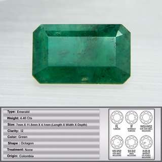 4.40 CT Stunning Colombian Natural Emerald