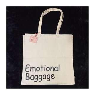 Statement Canvas Bag: Emotional Baggage