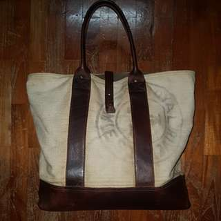 Forestbound Canvas and Leather Tote