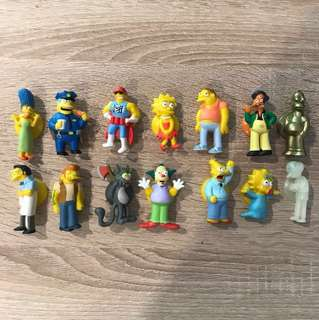 Simpson's suction cap characters includes golden homer and crystal mr burns