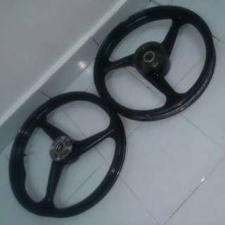 3 spokes alloy sport rims